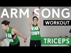 This triceps workout is done to the beat of the music using light hand weights. Just like the arm song in your favorite indoor cycling or barre class! One Song Workouts, Cheer Workouts, Workout Songs, Barre Workout, Triceps Workout, Morning Workouts, Running Songs, Running Tips, Running Training