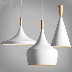 Conception par nouveau Battement de Lampe Pendante Lumière nouveau Blanc en bois instrument Lustre, 3 PCS/PACK
