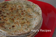 Aayi's Recipes: Methi-Potato Paratha