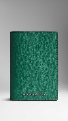 Colour Coated London Leather Passport Cover | Burberry