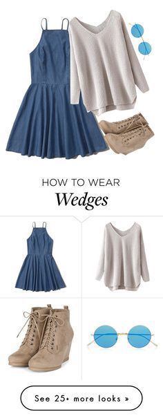 """""""•Falling for ya•"""" by kaitlynbug1226 on Polyvore featuring Abercrombie & Fitch and Illesteva"""