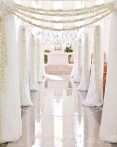Custom Burlap & Lace Wedding Invitations by Indoor Wedding Ceremonies, Wedding Ceremony Arch, Wedding Aisle Decorations, Reception Backdrop, All White Wedding, Wedding Prep, Elegant Wedding, Fall Wedding, Dream Wedding