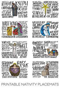Fun Fact Placemats: Nativity