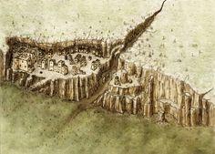 An Adobe Cliffside City by Jaxilon on DeviantArt An Adobe Cliffside City by ~ J. An Adobe Cliffside City by Jaxilon on DeviantArt An Adobe Cliffside City by ~ Jaxilon on deviantART Fantasy Map Making, Fantasy City Map, Fantasy Town, Fantasy World Map, Fantasy Places, Fantasy Rpg, Medieval Fantasy, Village Map, Rpg Map