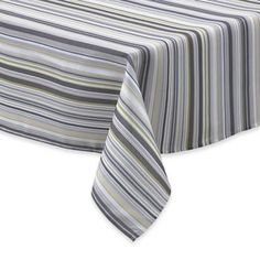 Buy Jelly Bean Stripe 52-Inch x 70-Inch Oblong Tablecloth from Bed Bath & Beyond