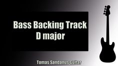 Emotional Pop Rock   Bass Backing Track Jam in D Major with Chords   D Major Pentatonic Scale