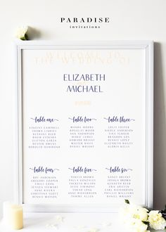 Wedding Table Seating Chart Watercolour Green Leaves Printable