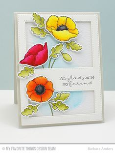 Handmade card from Barbara Anders featuring Stitched Cover-Up - Vertical Die-namics.