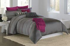 Magenta Comforter   Home / Bedding / Comforters & Shams / DKNY City Pulse Comforter