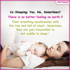 #CoSleeping  allows you to have extra time & closeness with your baby. This may help you to create a stronger bond with each other.