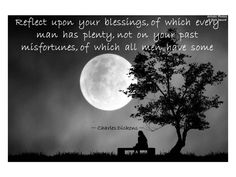 Reflect upon your blessings....