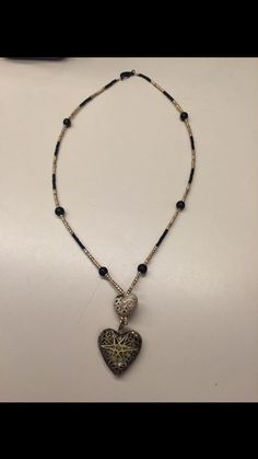 Heart beaded Diffuser Necklace