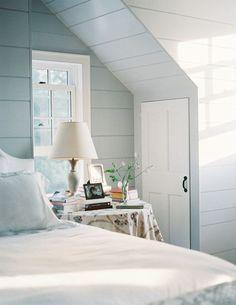 Bedroom wall color is Lookout Point Benjamin Moore