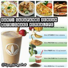 YUK SARAPAN NUTRISHAKE HERBALIFE!! FAKTANYA: Suka melewatkan sarapan, CENDERUNG MENGGILA saat makan siang. Sarapan bubur ayam, omelet, sandwich jg TIDAK SARAPAN SEHAT krn mengandung terlalu banyak kalori.   SEHAT DAN LANGSING BUKAN MIMPI!! ☎ HUBUNGI SAYA Dibimbing sampai BB Ideal Tercapai.  Maylina Kurniawati  LINE: mei2_chii  PIN BB: 51AB4DCC  WA: 081914999055  SMS/TELP: 089606880544 #herbalife #result #tips #diet #sehat