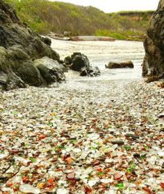 most famous sea glass beaches in the United States! Glass Beach in Fort Bragg, CA, and Sea Glass Beach in Hawaii! Oh The Places You'll Go, Places To Travel, Places To Visit, Camping Places, Old San Juan, Deco Marine, Sea Glass Art, All Nature, Am Meer