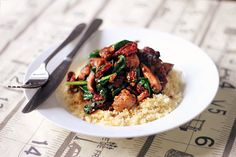 Sticky Glazed Chicken and Couscous