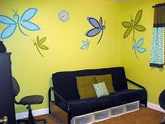 So easy firefly/butterfly murals
