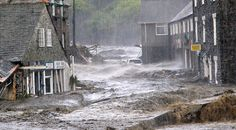 Streets A Wash With Debris, 2004 Floods Rampage Through Boscastle, Cornwall.
