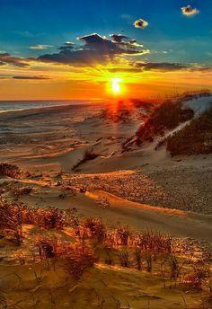 Beach on fire - Outer Banks, North Carolina, USA