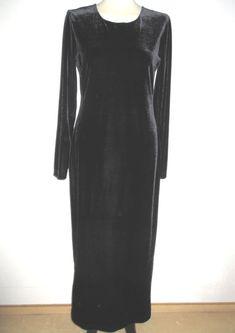 * * * FRAPP Samtkleid schwarz, Gr.40 * * * Dresses With Sleeves, Long Sleeve, Ebay, Fashion, Clothing Accessories, Gowns, Moda, Sleeve Dresses, Long Dress Patterns