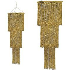 "Gold Fringe Chandelier from Windy City Novelties 16"" X 48"" - $10.95"