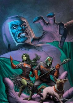 Guardians of the Galaxy vs. Kang the Conqueror by Alex Garner Marvel Comic Character, Marvel Comic Books, Comic Book Heroes, Marvel Characters, Comic Books Art, Comic Art, Marvel Villains, Book Art, Cartoon Characters