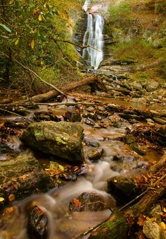 Tom's Creek Falls in Pisgah National Forest in NC. Oct 22, 2014