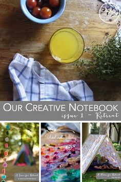 FREE digital magazine download - Crafting Connections Creative Notebook Issue 1 RETREAT // for the whole creative family, includes a beautiful play tent tutorial, an essay on self worth and getting away, a lovely printable, and more!