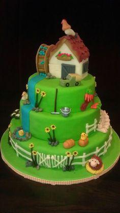 Boerderij taart gemaakt door www.dezoetetaart.com