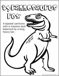 free online t-rex colouring page - kids activity sheets: dinosaur ... - Dinosaurs Coloring Pages Kids