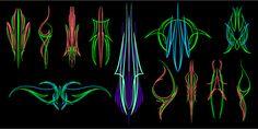 UglyStripe 06 vector pinstriping - 12 wicked designs
