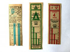 Transfers from San Francisco: 1951, ca. 1987, 1988 My mom has some of these plus some OG fast passes that she's going to let me take and turn into bookmarks!