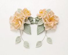 Fiori avorio orecchini. Gioielli floreali. Orecchini a fiore