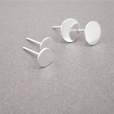 DOT post earring polished sterling silver single by MetalObjects