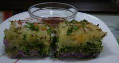 Baked Purple yam-Potato Handvo Recipe by Jasmin Motta _ Purple Yam, Healthy Snacks, Healthy Recipes, Homemade Butter, Evening Snacks, Fresh Coriander, Pasta Salad Recipes, Yams, Winter Food