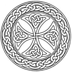 Celtic Cross Stained Glass Pattern | Stained Glass Flower Coloring Pictures - Free Coloring Pages Daily