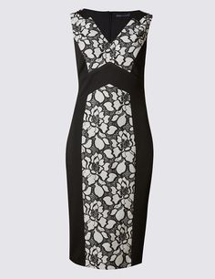 Maxi coat and lace bodycon dress