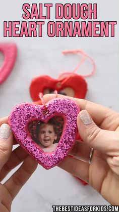 SALT DOUGH HEARTS ❤️ - these salt dough hearts would be a really fun craft to make with kids for Valentine's Day or Mother's Day! day decorations for classroom toddlers SALT DOUGH HEARTS ❤️ Valentine's Day Crafts For Kids, Valentine Crafts For Kids, Mothers Day Crafts, Toddler Crafts, Crafts To Make, Holiday Crafts, Fun Crafts, Kids Diy, Decor Crafts