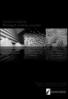 Design is not only for building.  Brochure for finance have to be Design as well.  We thank you very much our designer Anna.  Licorns Capital. www.licornscapital.ch