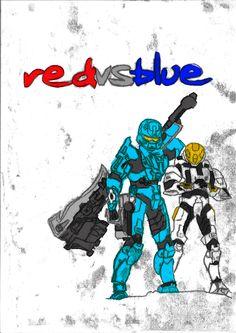 Red vs Blue S10 Cover Monoprint