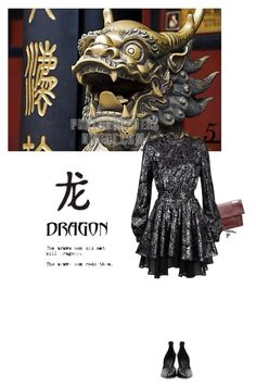 """""""Dragon's Teeth"""" by sharmarie ❤ liked on Polyvore featuring Victoria Beckham, Givenchy and Just Cavalli"""