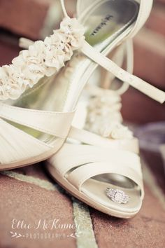 wedding shoes and ring
