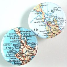 Auckland Map Pinback Button Set by XOHandworks.com $3 Unique Image, Auckland, Nice Things, Are You The One, Craft Ideas, Button, Cool Stuff, Diy, Crafts
