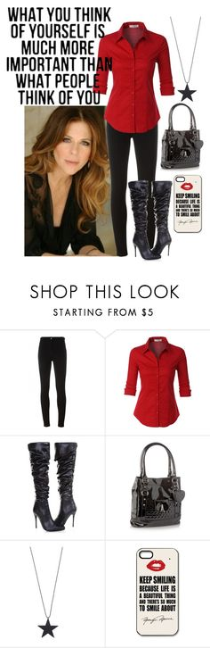 """""""Keep smiling"""" by not-your-southern-bell ❤ liked on Polyvore featuring Givenchy, LE3NO, Red Herring and Just Female Acces"""