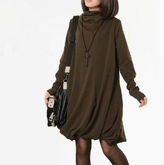 Hey, I found this really awesome Etsy listing at https://www.etsy.com/listing/164798436/sweater-dress-cotton-dress-knitwear