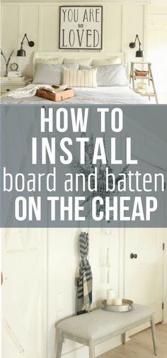 So you want to create a bit of interest to your home decor? Try creating these DIY farmhouse style board and batten walls on the cheap with this step by step tutorial! #farmhouse #diyproject #boardandbatten via @TwelveOnMain
