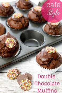 Deliciously moist and chocolatey, Thermomix double chocolate muffins follow a simple, melt and mix method producing perfectly decadent muffins in just 25 minutes. #Thermomix #chocolate #muffins