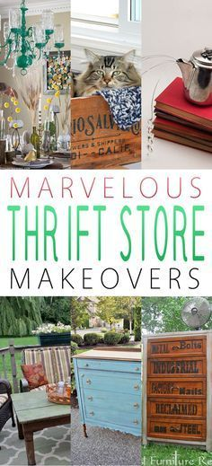 Marvelous Thrift Store Makeovers is part of Upcycled Crafts Recycling Thrift Stores - Today is Makeover Monday and WOW we have some whimsical and MARVELOUS Thrift Store Makeovers for you! Sit back and enjoy these creations and be INSPIRED! Cheap Furniture Makeover, Diy Furniture Easy, Repurposed Furniture, Furniture Refinishing, Refurbished Furniture, Furniture Redo, Furniture Ideas, Furniture Assembly, Furniture Outlet