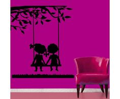 Couple on Swing wall sticker by meSleep on http://www.makenlive.com/products/9467/walls-and-paints/wall-stickers/Couple%20on%20Swing  #love #couple #together #wall #art #sticker #design #decor #idea #pretty #DIY #home