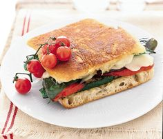 Healthy Grilling Recipes Under 450 Calories: Overdose on veggies with this Mozzarella and Grilled Vegetable Panini #SelfMagazine